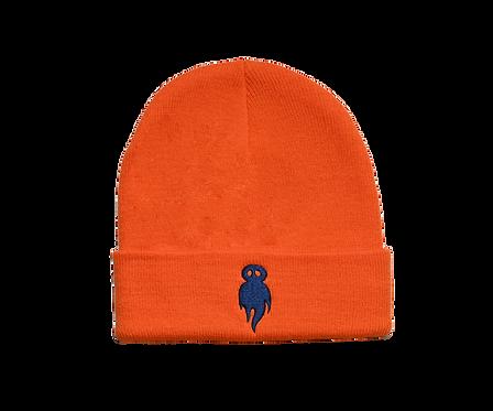 Orange logo beanie
