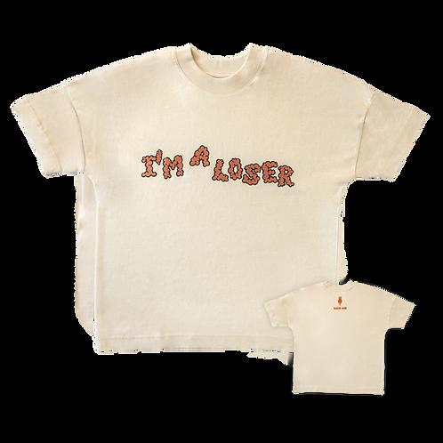 I`m a loser t-shirt in beige