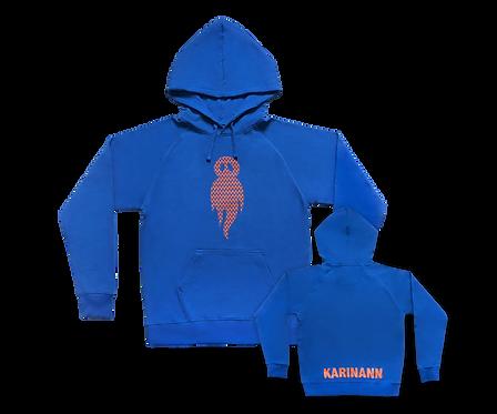 Blue logo hoodie