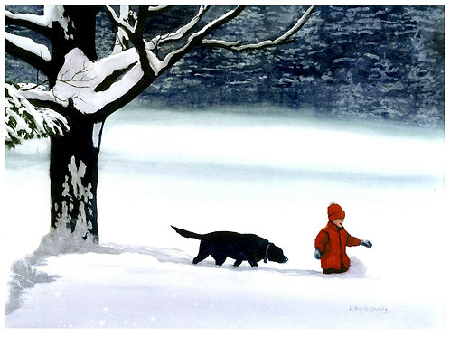 Wading in Deep Snow