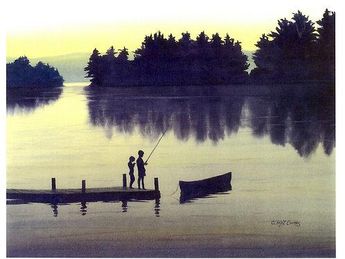 Two Children Fishing