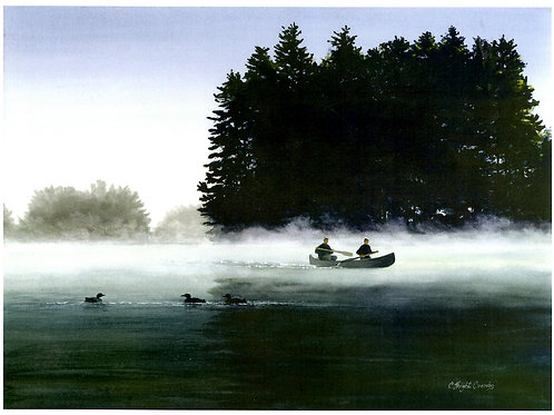 Canoe in the Mist