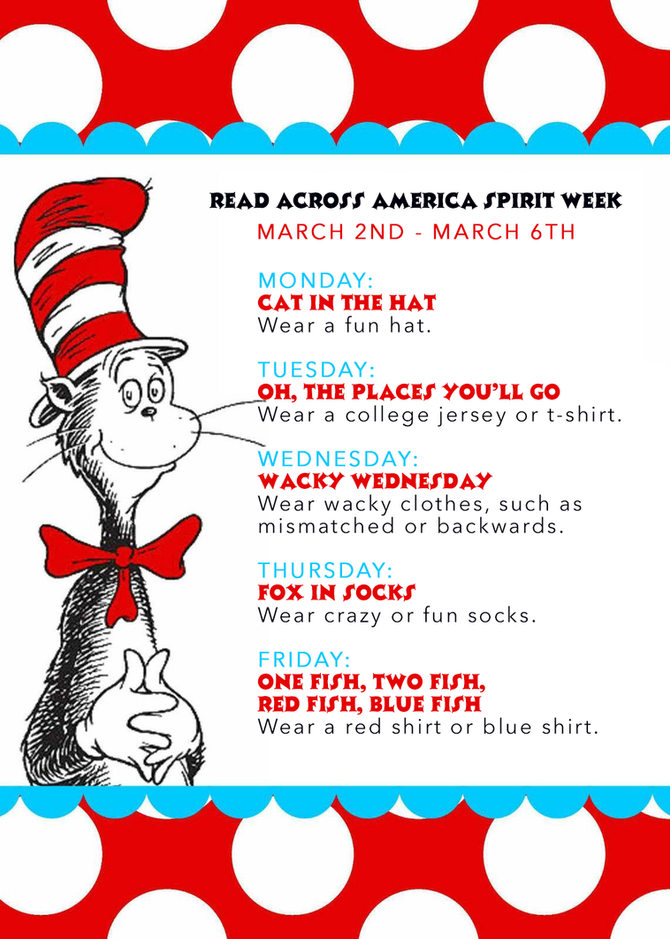 Read Across America Spirit Week: 2020