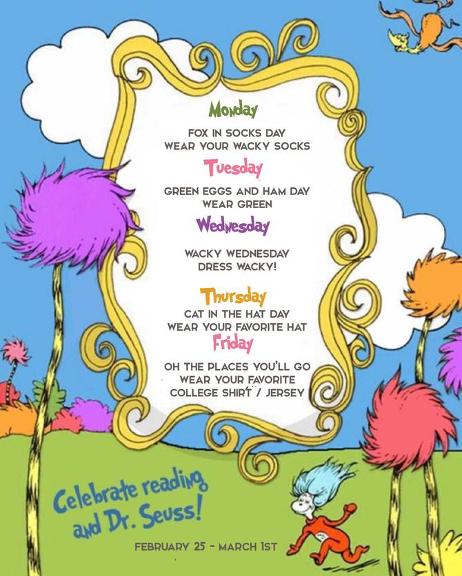 Wacky Week | Read Across America