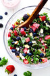 Triple Berry Kale Salad