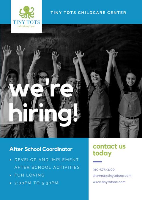 Now Hiring : After School Coordinator