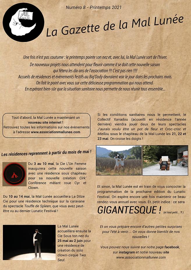 La Gazette de la Mal 7- Printemps 2021.p