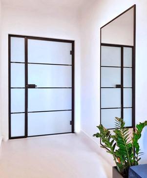 Drzwi loftowe matowe