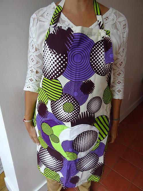 année 70 géométrique vêtement violet vert