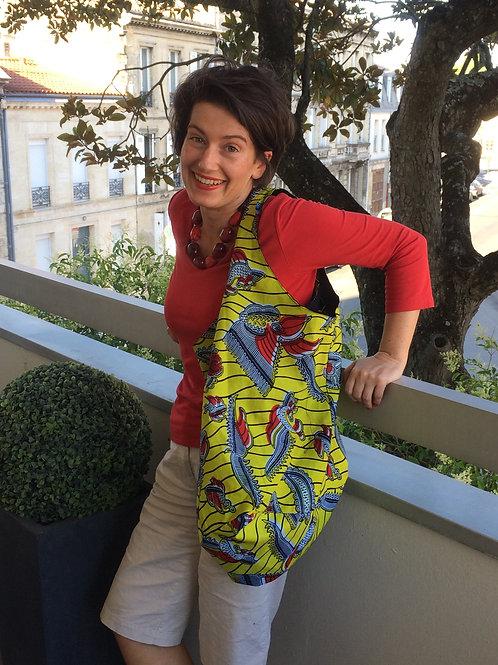 sac de plage wax africain coton vacances coloré fourre-tout bénin grain de sable