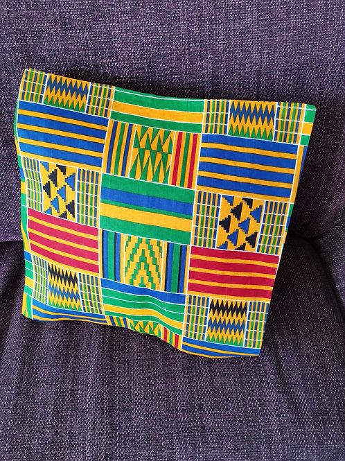 housse de coussin tissu africain boubou décoration ameublement coton pagne lavable en machine grain de sable