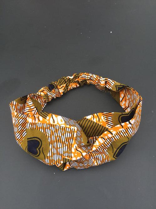 accessoire de mode coiffure bandeau chouchou bijou headband pagne artisanal
