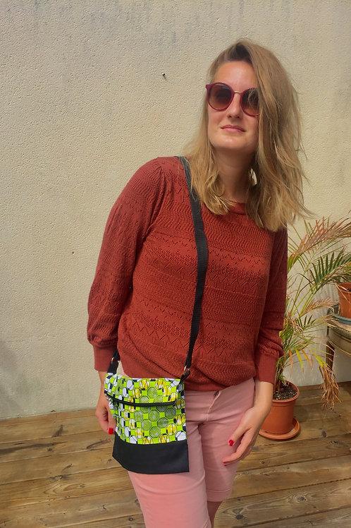 sac en bandoulière tissu africain