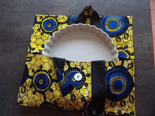 jaune bleu tapas gratin tarte wax sac