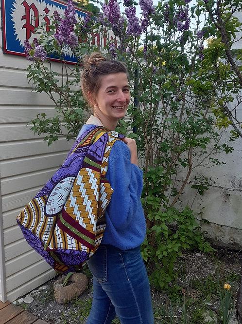 sac multifonction violet parme cadeau de naissance