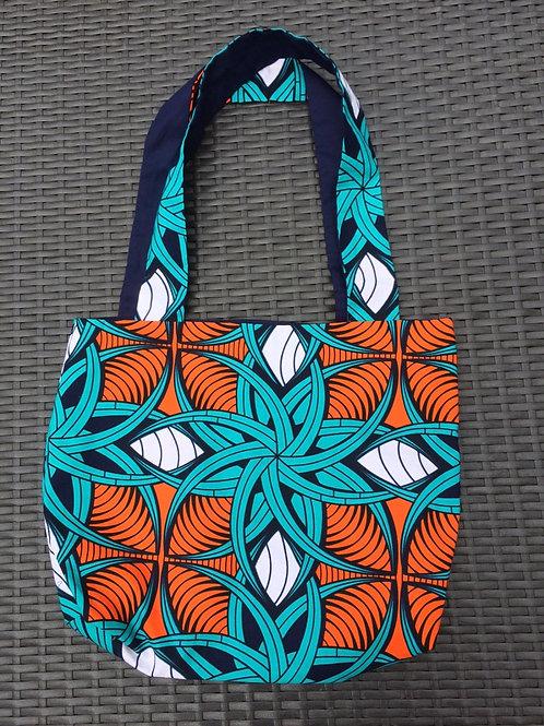 Sac Alafia turquoise et orange