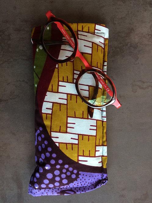 étuis lunette portable tissus wax soleil molletonné ouatiné téléphone cadeau accessoire