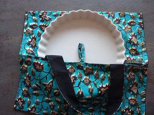 turquoise fleurs de combo africain wax