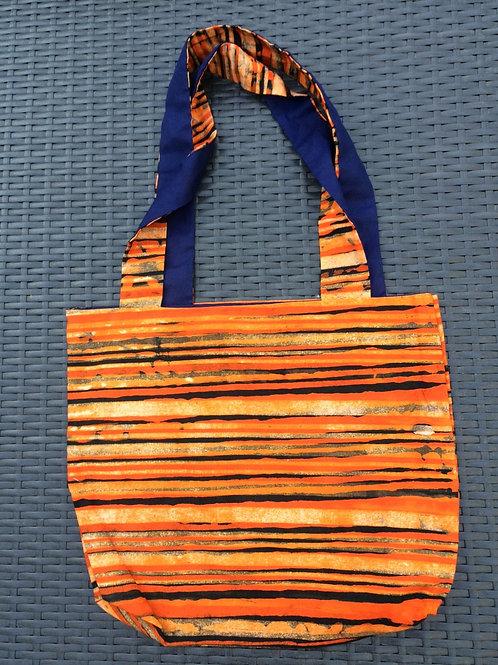 sac Alafia rayé orange et noir