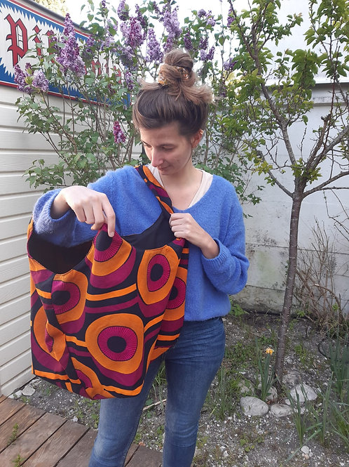 sac coton pour transporter les affaires de béb