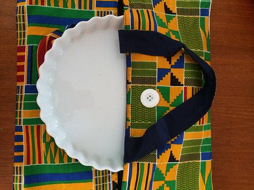 sac à tarte wax tissu africain coton pagne boubou lavable en machine grain de sable