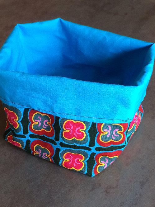 vide poche accessoire de beauté tissu africain pratique rangement bazar