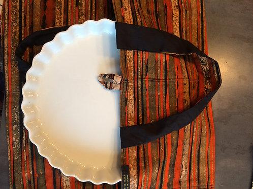 sac à tarte wax tissu africain coton pagne boubou grain de sable spirale orange et vert