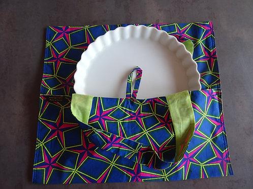 textile étoile géométrique fuchsia tarte cuisine wax fait main gâteau