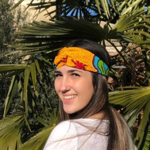 headband coton cheveux tissu aficain