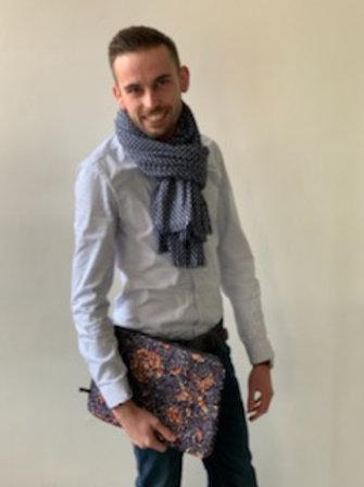 accessoire d'ordi tissu africain marine homme femme cadeau utile