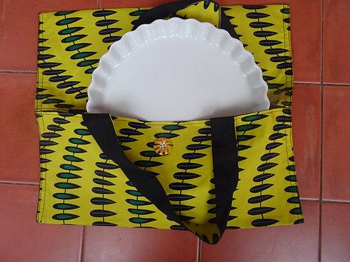 sac à tarte wax guirlande jaune vert