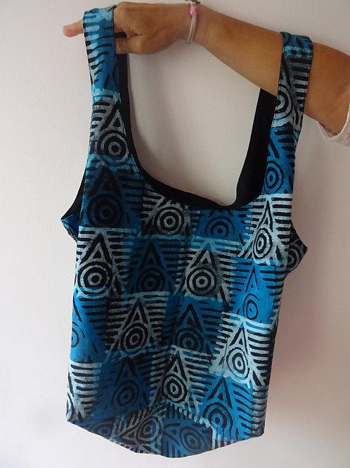 motifs ethniques sac voyage textile bébé plage sport bleu batik