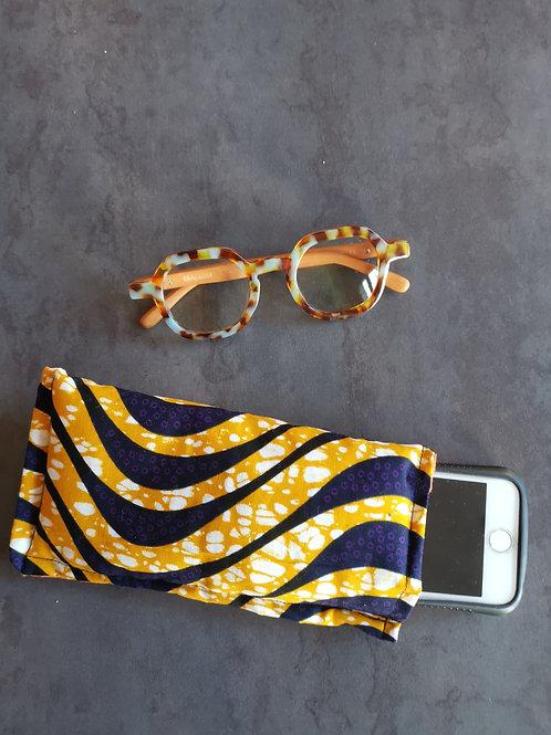 pochette pour portable lunette en tissu