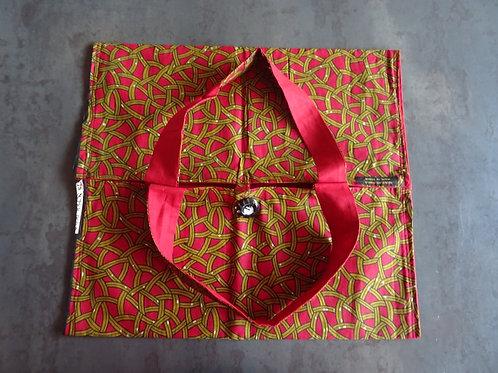 transporter tarte gâteau cadeau rouge et or wax offrir maman cuisinier accessoire