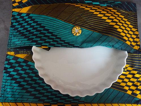 sac à tarte wax tissu africain coton pagne boubou cuisine gâteau grain de sable