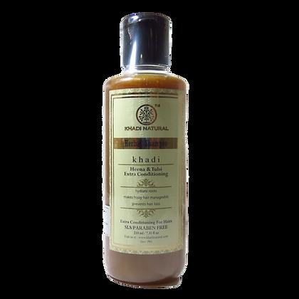 Khadi Natural™ Herbal Henna Tulsi Extra Conditioning Shampoo