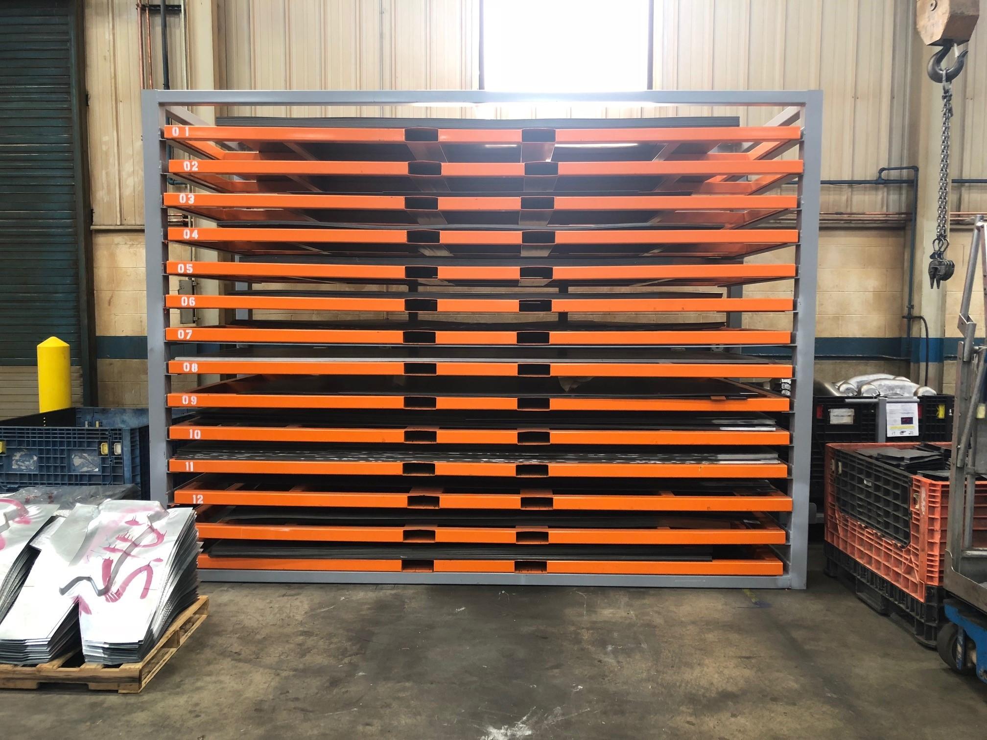 sheet metal rack 2