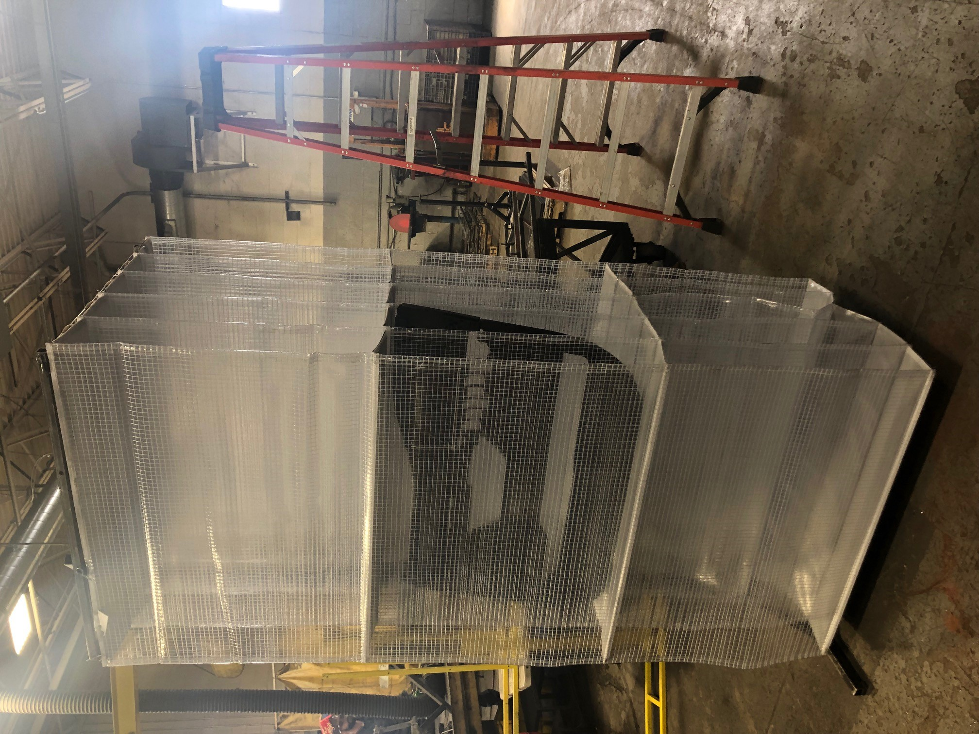 Clear bag for material handling