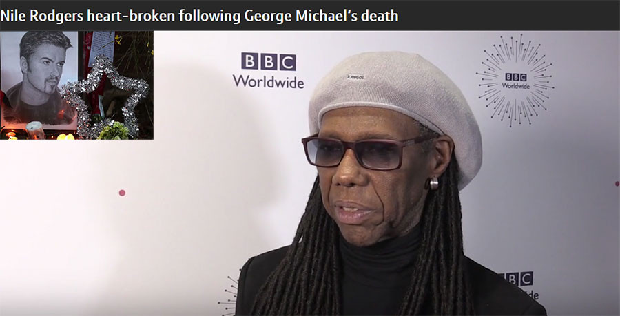 Nile Rodgers heart-broken following George Michael's death