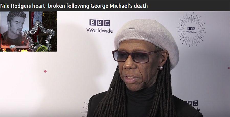 Nile Rodgers heart-broken following George Michael's death