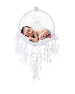 Baby boy in dreamcatcher newborn photo shoot