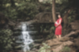 pregnant woman photo shoot, maternity photos, professional bump to baby photography, outdoor, waterfall