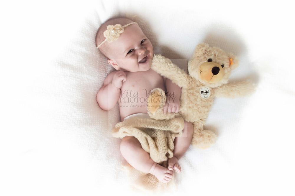 Smiley baby photo shoot