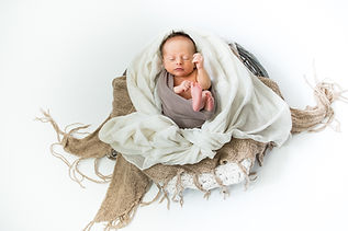 Newborn in basket, wrapped baby, baby photos Gloucester