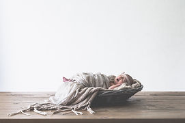 Baby in basket, photography props, newborn photography, gloucestershire