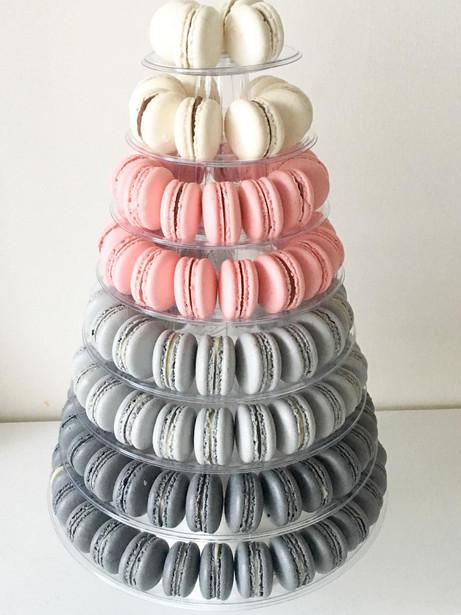 macaron tower colour block