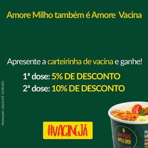 Amore Vacina é a campanha promocional gastronômica para incentivar a vacinação de jovens em Brasília