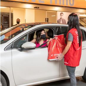 Pátio Brasil reforça opção de drive-thru para compras durante fechamento do shopping