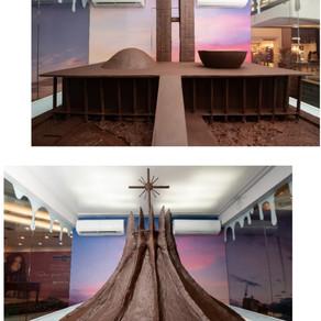 Pátio Brasil faz exposição com esculturas de monumentos de chocolate