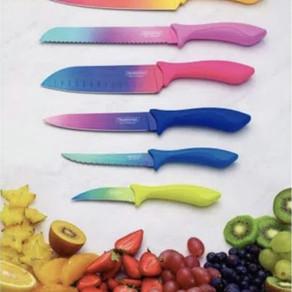 Cores na cozinha: Tramontina lança linha limitada de facas Colorcut